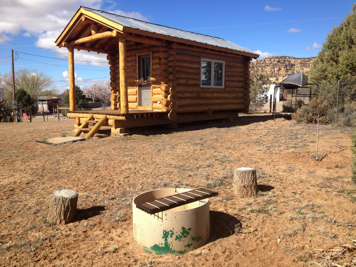 Cabins and fire pits available at the RV Park
